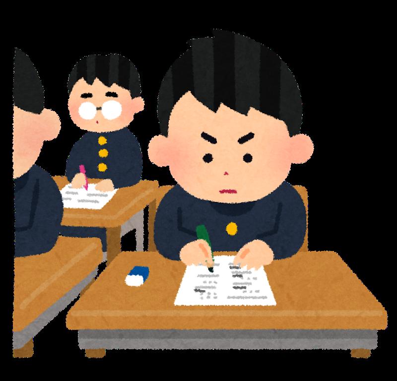 集中して勉強する子ども